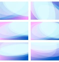 Set wavy background vector image