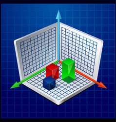 3d business graph or diagram vector image vector image