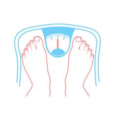 concept of overweight vector image vector image