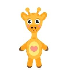 Cute cartoon character giraffe Baby toy giraffe vector image vector image
