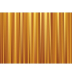 gold curtain vector image vector image