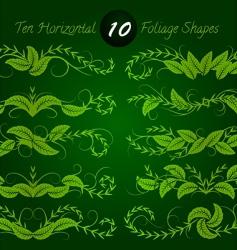 horizontal foliage vector image