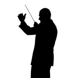 music conductor vector image vector image
