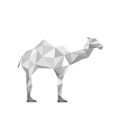 paper origami camel isolated on white background vector image