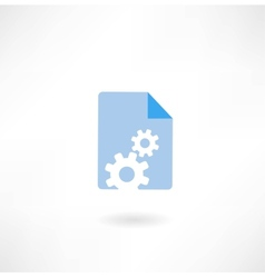 paper with cogs icon vector image vector image