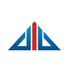 triangle line arrow logo vector image vector image