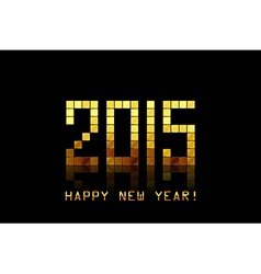 - Happy New Year 2015 - with golden numbers vector image vector image