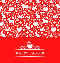 Easter pattern card vector