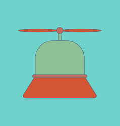 flat icon on background kids toy helicopter vector image