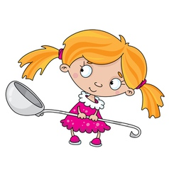 girl with a spoon vector image vector image