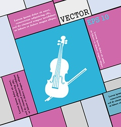 Violin icon sign Modern flat style for your design vector image