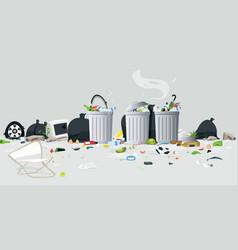 waste of garbage vector image