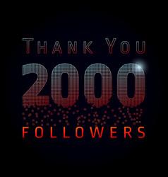 2 000 followers pixels dark vector