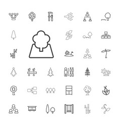 33 tree icons vector