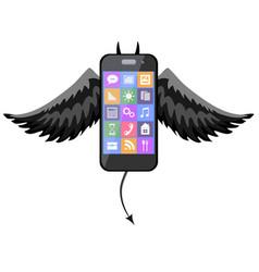 A phone devil icon vector
