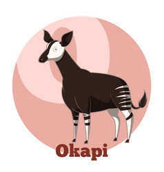 abc cartoon okapi vector image