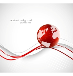 Abstract background with earth vector image