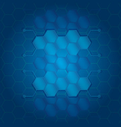 abstract hexagons background with electronic vector image