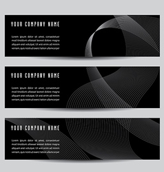 Abstract wave banners vector image