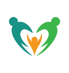 Adoption Care Logo vector image