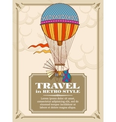 Air hot balloons in sky background vector image