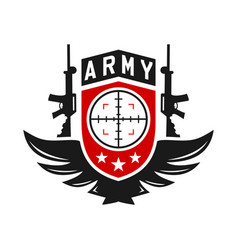 army weapons logo vector image