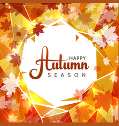 autumn sale background with white circle in vector image