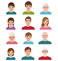 Avatars people different ages vector