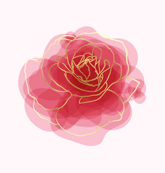 beautiful rose watercolor imitation hand-painted vector image