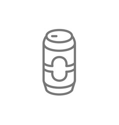 beer can line icon vector image