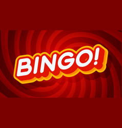 bingo red and yellow text effect template with 3d vector image