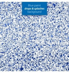 Blue paint drops and splashes background vector image