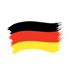 brushstroke painted flag germany vector image