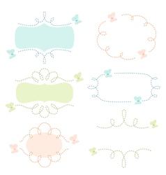 Butterflies banners vector