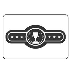 Champion belt icon Award vector image