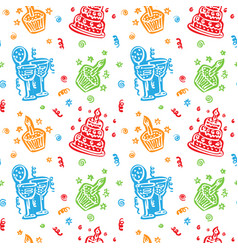 Colorful happy birthday pattern background vector
