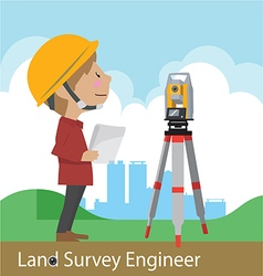 Construction civil engineering land survey enginee vector