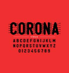 Corona virus infection style font vector