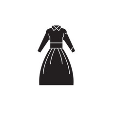 country dress black concept icon country vector image