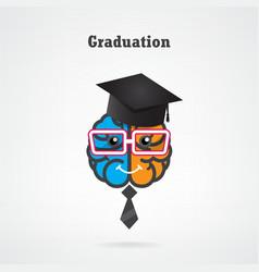 Creative brain graduation concept vector