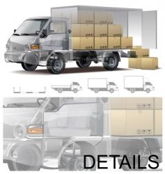 delivery cargo truck cutaway vector image