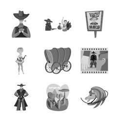 Design ranch and farm icon set ranch vector