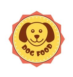 Dog Food label vector image