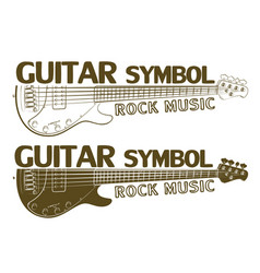 Electric guitar symbol vector