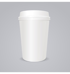 empty coffee paper cup with lid vector image