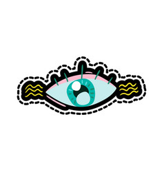 eye stitched frame vector image