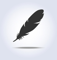 feather icon in gray colors vector image