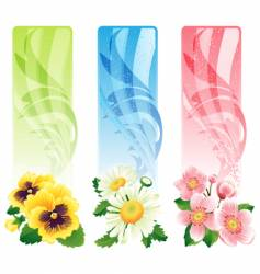 flower banner vector image vector image