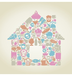 Food the house vector