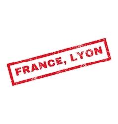France Lyon Rubber Stamp vector